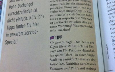 Single Umzüge GmbH im Journal-Frankfurt!
