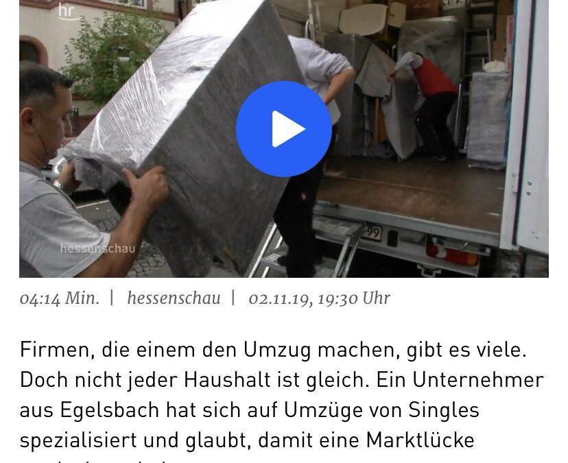 Gestern im TV – Die Hessenschau berichtet über Single Umzüge!