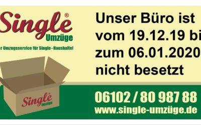 Unser Büro ist vom 19.12.19 bis zum 06.01.2020 nicht besetzt!